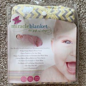 Miracle blanket- yellow/ gray chevron